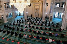 Festive events on the day of Eid al-Adha Bayram in the Moscow Cathedral Mosque.