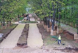 Reconstruction of the Aleksandrovsky Garden park.