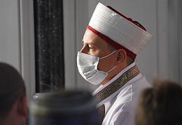 Crimean Tatars perform a festive prayer on Kurban Bayram.