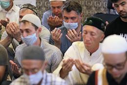 Feast of the sacrifice of Kurban-Bayram in the Apanaevskaya mosque in Kazan