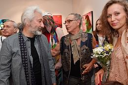 Opening ceremony of a multi-genre exhibition of artist, musician and producer, leader of the Tsvety music band Stas Namin at the Moscow Museum of Modern Art (MMOMA).