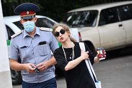 Preliminary hearing of the case against Maria Alekhina, accused of inciting violations of sanitary norms at the January 23 rally in Moscow at the Preobrazhensky Court.