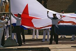 The parade of ships, the celebration of the Day of the Navy of the Russian Federation in Sevastopol.