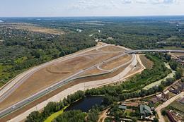 Volgo-Akhtubinskaya floodplain Natural park. Start of construction of the third launch stage of the bridge.