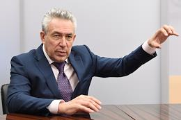 General Director - Chairman of the Board of Rosgeologia Sergei Gorkov during an interview.