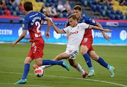 Russian Premier League (RPL). Tinkoff - Russian Football Championship 2021/2022. 1st round. CSKA Moscow vs Lokomotiv Moscow at the VEB Arena stadium.