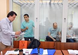The hearing of the case involving Alexander Berezhny, Alexander Vakulin, Alexey Grinyuk, Yuri Reshetnikov in the 235th garrison military court.