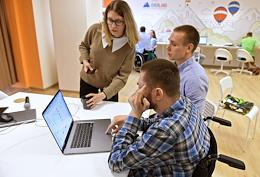 The first inclusive coworking space by the Autonomous Non-Profit Organization (ANO) 'Space of Equal Opportunities', created by the founders of Everland, in the Victoria Plaza business center on Baumanskaya.