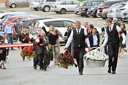 Farewell ceremony with Yasen Zasursky, President, former Dean of the Faculty of Journalism of the Lomonosov Moscow State University (MSU), at the Troekurovsky cemetery.