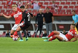 The third qualifying round of the Football Champions League. A match between the teams Spartak (Moscow, Russia) - Benfica (Lisbon, Portugal) at the Otkrytie Arena stadium.