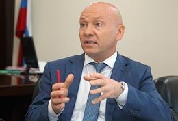 General Director of PJSC 'Granit' Valery Panasenko, during an interview, in his office.