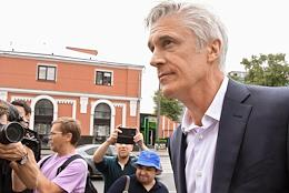 Announcement of the verdict to the founder of Baring Vostok, Michael Calvey, and his colleagues, accused of embezzling Vostochny Bank funds, in the Meshchansky District Court