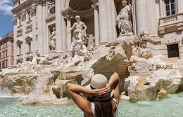 Genre photographs. Views of Rome.