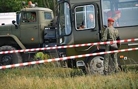 The situation at the crash site of the Il-112V military transport aircraft near the Kubinka airfield