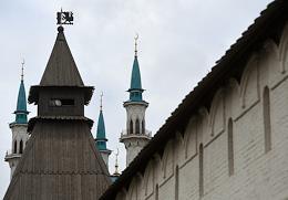 Genre photographs. Views of Kazan.
