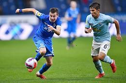 Russian Premier League (RPL). Tinkoff - Russian Football Championship 2021/2022. 7th round. Dynamo (Moscow) vs Nizhny Novgorod (Nizhny Novgorod) at the VTB Arena stadium.