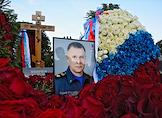 The funeral ceremony for the Minister of Emergency Situations of Russia, Hero of Russia, General of the Army Yevgeny Zinichev at the Northern Cemetery in St. Petersburg.