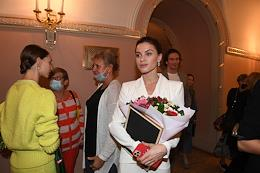 Gathering of the troupe, dedicated to the beginning of the new 246th theatrical season on the stage of the Bolshoi Theater.