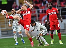 Europa League. Spartak (Moscow, Russia) vs Legia (Warsaw, Poland) at the Otkrytie Arena stadium.