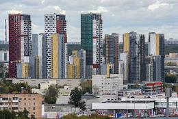 Genre photographs. Views of Moscow.