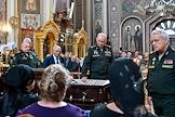 Farewell ceremony for the Hero of Russia, General of the Army Viktor Kazantsev at St. Catherine's Cathedral in Krasnodar.