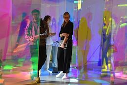 Preview of the Cosmoscow contemporary art fair at the Manezh Central Exhibition Hall.