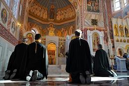 The solemn ceremony of opening the cathedral in honor of the holy right-believing prince Alexander Nevsky in the center of Volgograd. The rite of the great consecration of the Alexander Nevsky Cathedral and the Divine Liturgy.