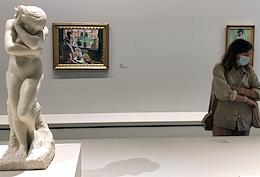 Opening ceremony of an exhibition from the Icons of Contemporary Art series dedicated to the Morozovs' collections at the Fondation Louis Vuitton.