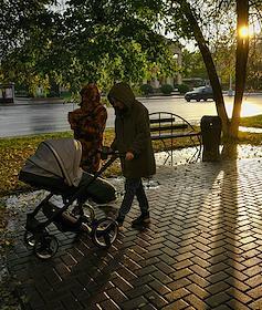 Hail in Kemerovo.