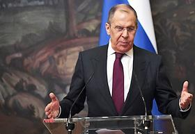 Talks between Russian Foreign Minister Sergei Lavrov and Egyptian Foreign Minister Samekh Shukri at the Reception House of the Russian Foreign Ministry.