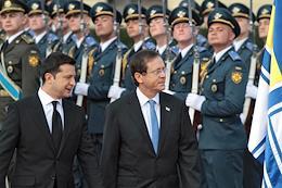Israeli President Isaac Herzog visited Ukraine.