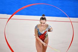 The 8th Olympico Cup 2021 rhythmic gymnastics tournament at the Irina Viner-Usmanova Gymnastics Palace. Final competitions in certain types of the program.