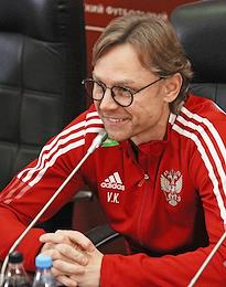 Open training session of the football teams of Russia and Slovakia at the Ak Bars Arena stadium and the press conference of the head coaches of the national teams.