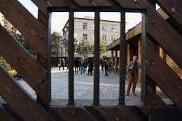 The opening ceremony of the 'Garden of Memory' at the Gulag History Museum.
