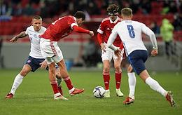 Qualifying tournament for the World Cup. Group stage. 7th round. A match between the national teams of Russia and Slovakia at the Kazan-Arena stadium.