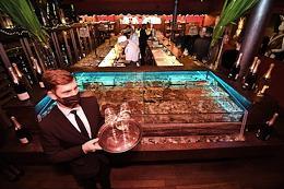 Celebrating the 10th anniversary of the White Rabbit restaurant in the Smolensky Passage.
