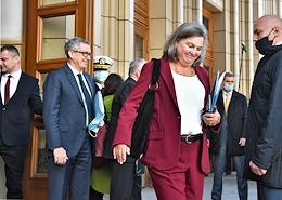 US Deputy Secretary of State Victoria Nuland outside the Russian Foreign Ministry.