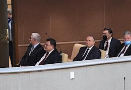 The first plenary meeting of the State Duma of Russia of the eighth convocation.
