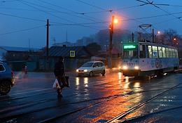 Genre photographs. Views of Omsk.