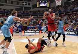 Euroleague basketball. A match between the teams CSKA Moscow - Zenit St. Petersburg at the Megasport stadium.