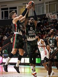 Euroleague basketball. A match between the teams 'Unics' (Kazan, Russia) - 'Bavaria' (Munich, Germany) at the Basket Hall.