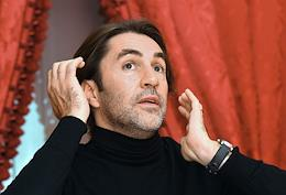 Choreographer Edward Clug during an interview at the State Academic Bolshoi Theater.