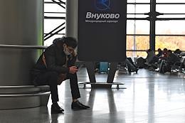 Opening ceremony of regular flights of ALROSA airline at Vnukovo airport.