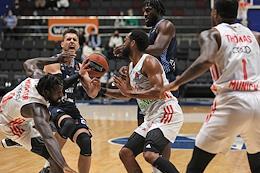 Euroleague basketball. A match between the teams Zenit (St. Petersburg, Russia) - Bavaraya (Munich, Germany).