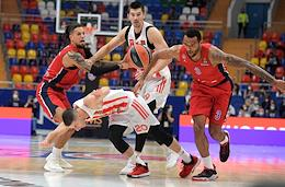 Euroleague basketball. A match between the teams CSKA (Moscow, Russia) - Crvena Zvezda (Belgrade, Serbia) at the Megasport Sports Palace.